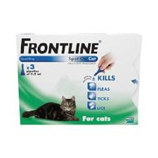 Frontline Spot on for cats (3 x Pipette)