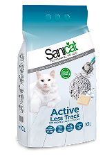 Sanicat Active Less Track Clumping Cat Litter 10L