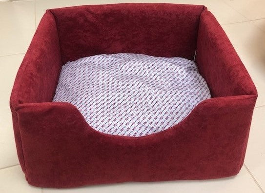 Red Square Pet Bed Small