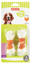 Zolux Dog Chewing Bones with Chicken Pack of 2