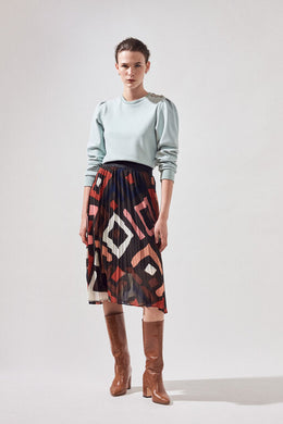 Suncoo Geometric Pattern Skirt