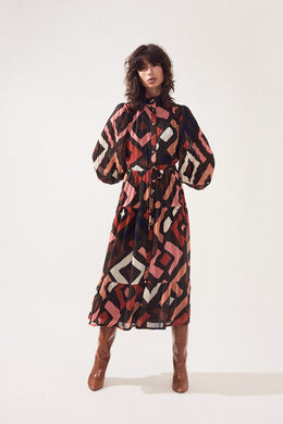 Suncoo Geometric Chelby Dress