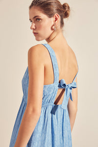 Suncoo Casilda Blue Midi Dress