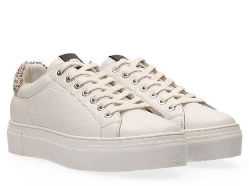 Maruti Ted Leather White Hair Trainer
