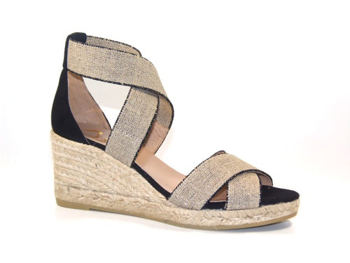 Kanna Laura   Beige/Black Wedge
