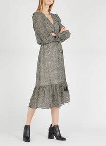 Suncoo Calixte Midi Wrap Dress