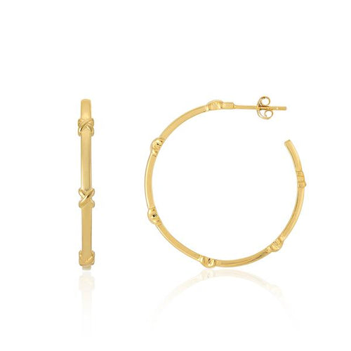 Auree Large Yellow Gold Vermeil Kiss Hoops
