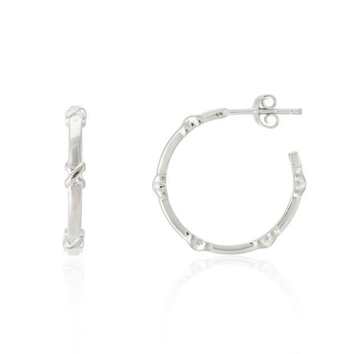 Auree DEIA PICCOLO STERLING SILVER KISS HOOP EARRINGS