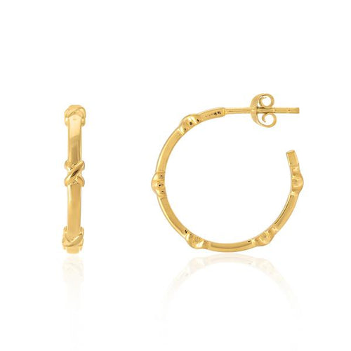 Auree SMALL Yellow Gold Vermeil Kiss Hoop Earrings