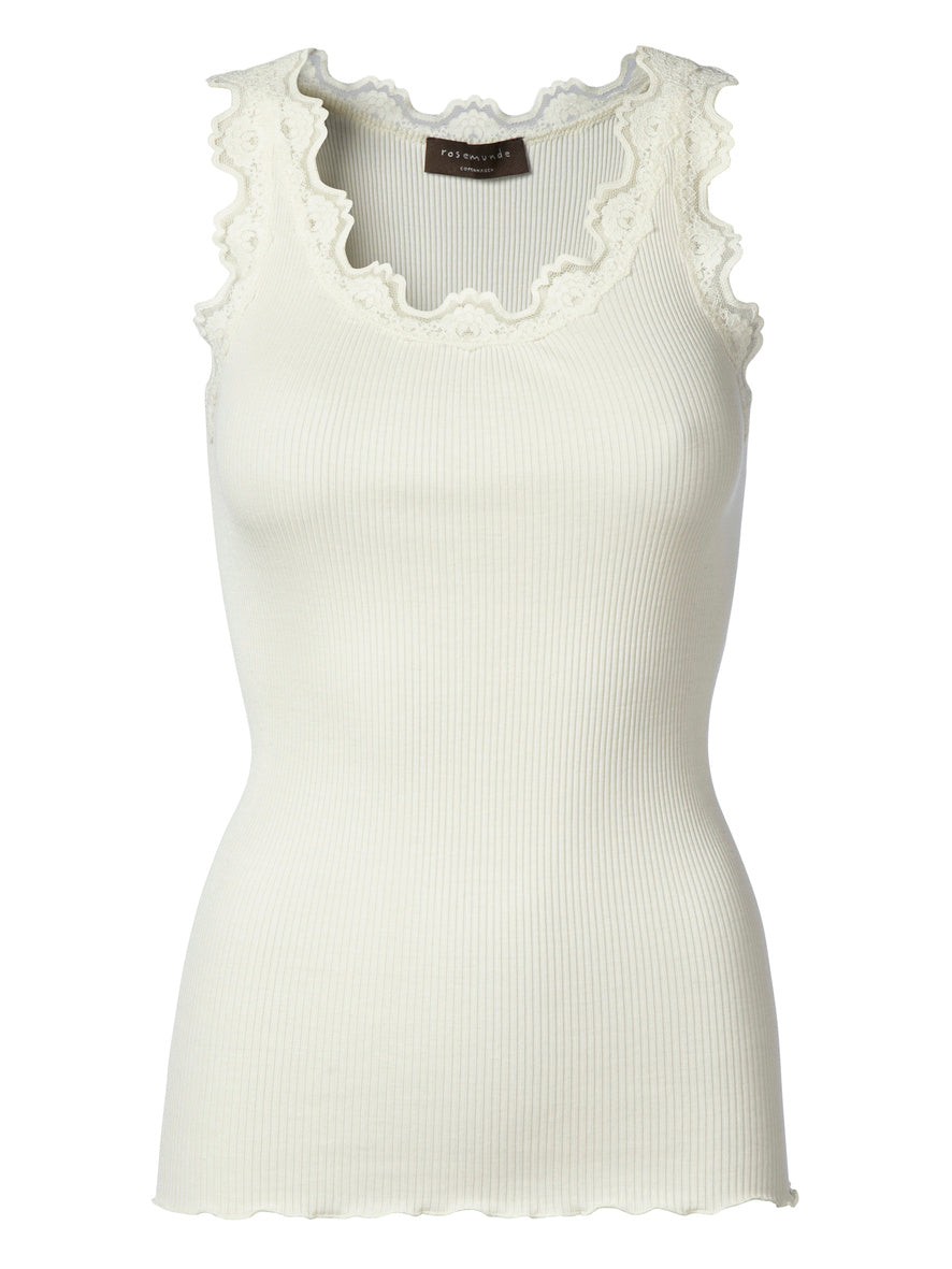 Rosemunde Ivory Lace Silk Top