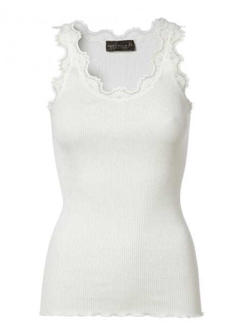 Rosemunde New White Lace Silk Top