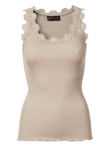 Rosemunde Cacao Lace Silk Top