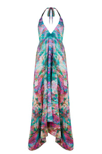 Sophia Alexia Liquid Rainbow Silk Ibiza Dress