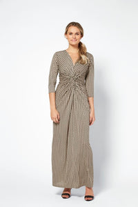 Ilse Jacobsen Crezia Taupe Maxi Dress