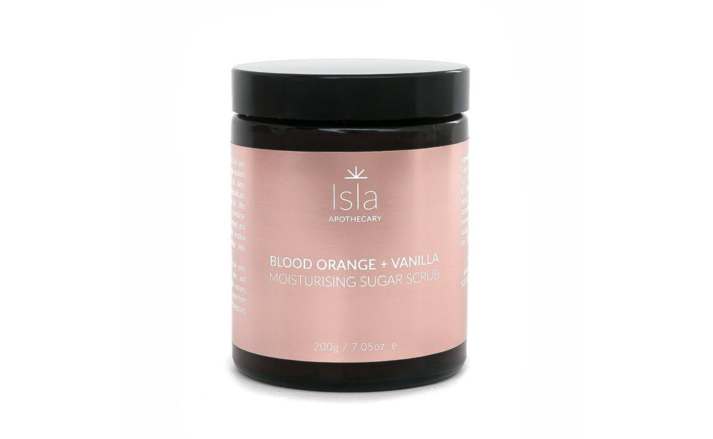 Isla Apothecary Blood orange & vanilla sugar scrub