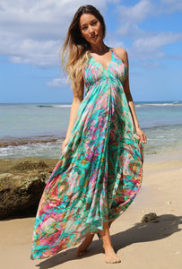Liquid Rainbow Silk Ibiza Dress