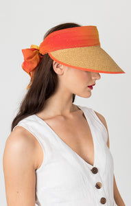 Orange Straw Visor