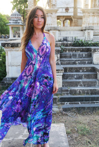 Ocean Current Silk Ibiza Dress
