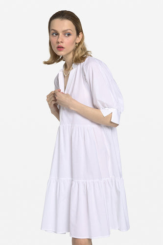Ottod'Ame White Poplin Mini Dress