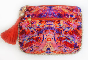 Sophia Alexia Pink Fire Clutch Bag