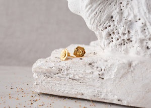 Pureshore Wildflower Earrings in 18kt Yellow Gold Vermeil with a White Diam