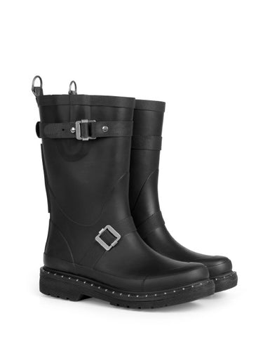 Ilse Jacobsen 3/4 Rubber Boot Black