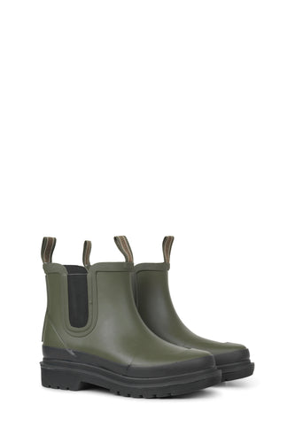 Ilse Jacobsen Short Rubber Boot Army