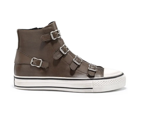 Ash Brown Virgin Leather Trainers