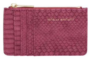 Estella Bartlett Burgundy Snake Purse