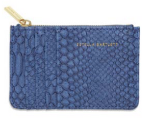 Estella Bartlett Navy Snake Purse