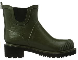 Ilse Jacobsen Army Rubber High Heel Boots