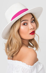 White and Pink Hat