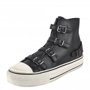 Ash Black Virgin Leather Trainers