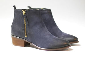 Cara Navy Blue Saluki Boot