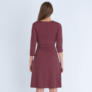 Isle Jacobsen Red Crezia Midi Dress
