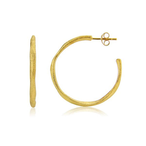 Auree OLIVERA MEDIUM GOLD VERMEIL HOOP EARRINGS