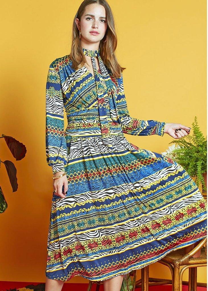 Onjenu Zebres Midi Dress