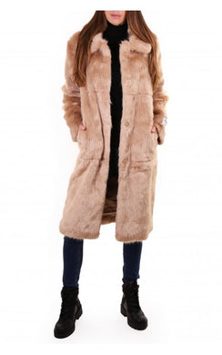 Rino & Pelle Dex Faux Sand Fur Coat