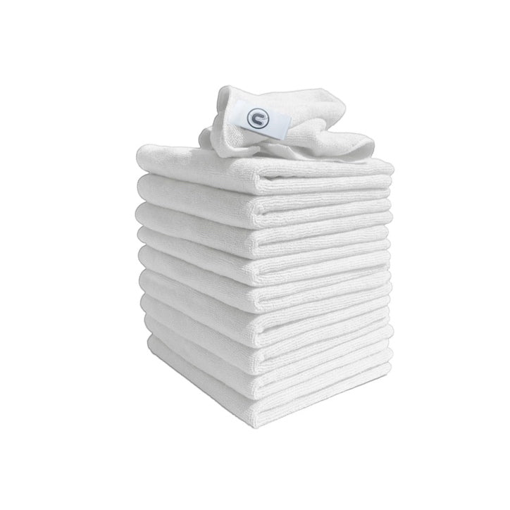 Richlite Fabrication + Finishing | Contract white microfibre cloths (Pack of 10)