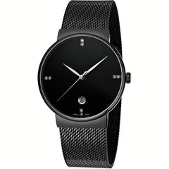 Daniel Wellington Women's 0508DW Sheffield Analog Quartz Black Leather Watch