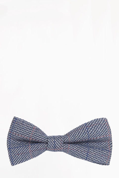 Hilton Blue Tweed bow tie