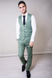 Marc Darcy Sid Moss Green Check Trousers
