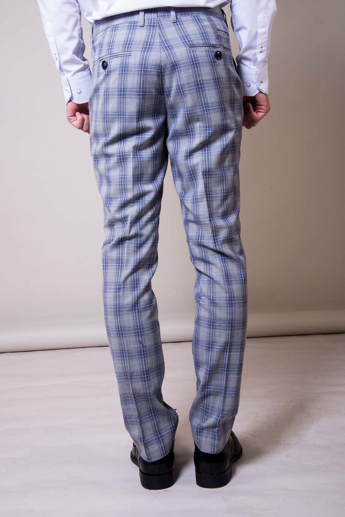 Marc darcy Jack Grey Checked Trousers