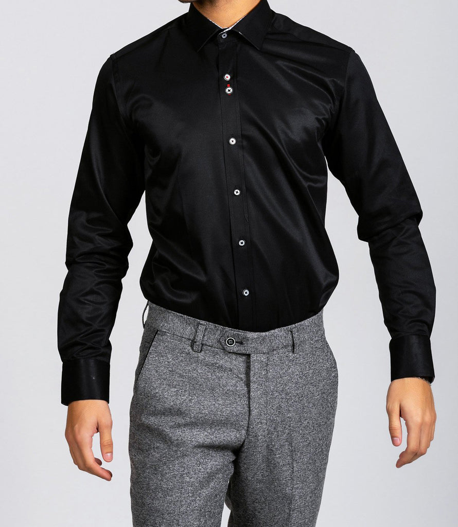 Marc Darcy Alfie Black Long Sleeve Shirt
