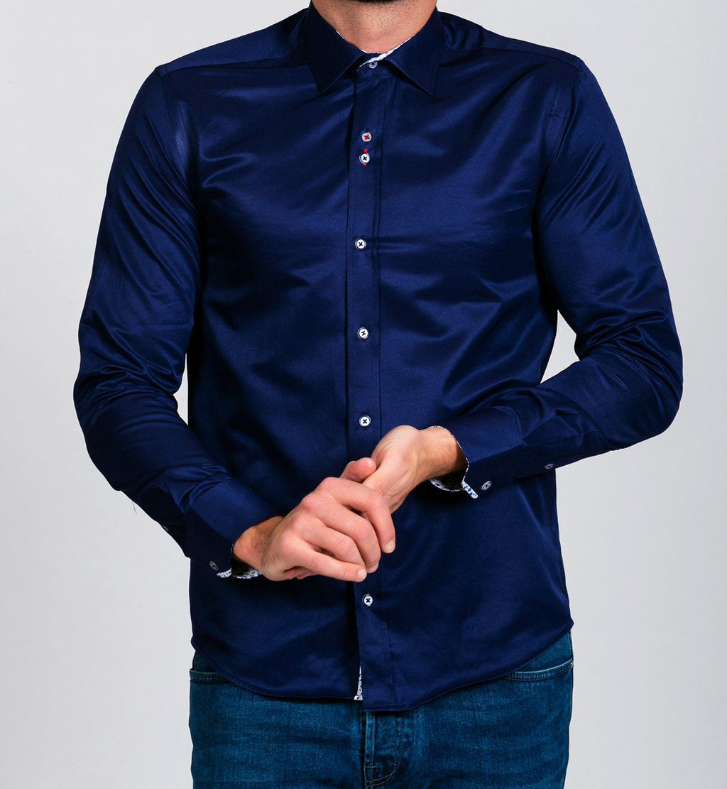 Marc Darcy Alfie Navy Long Sleeve Shirt