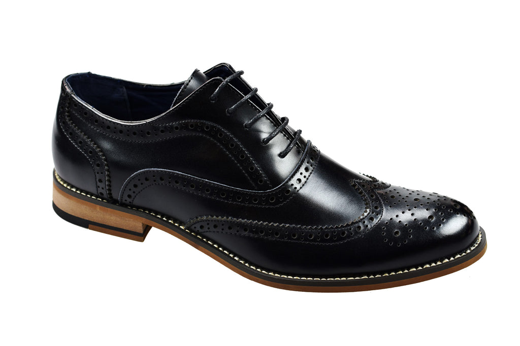 Cavani Oxford black brogue shoes