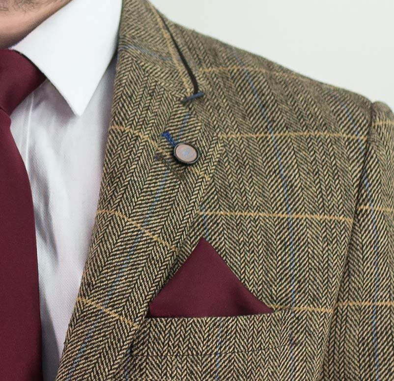 Cavani Albert Brown Tweed Blazer