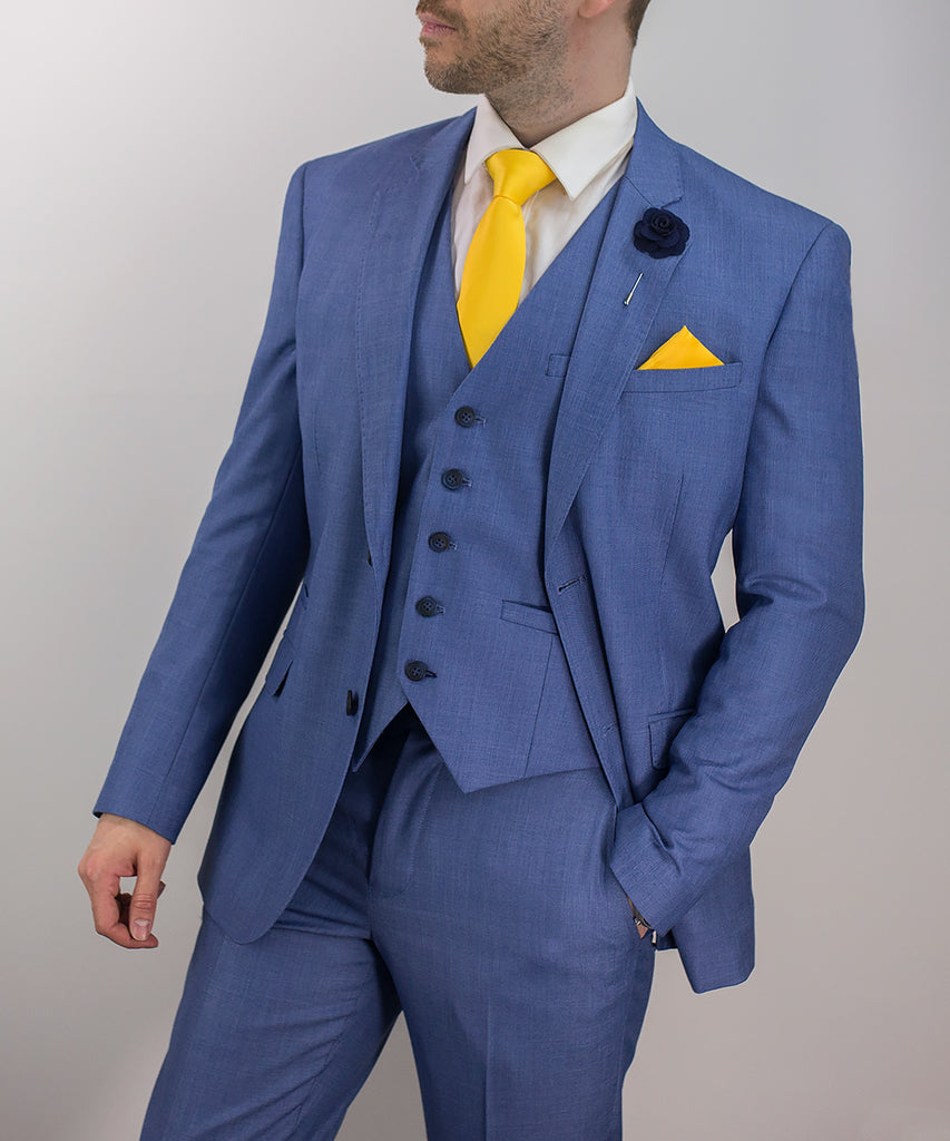 Cavani Blue Jay Three Piece suit.