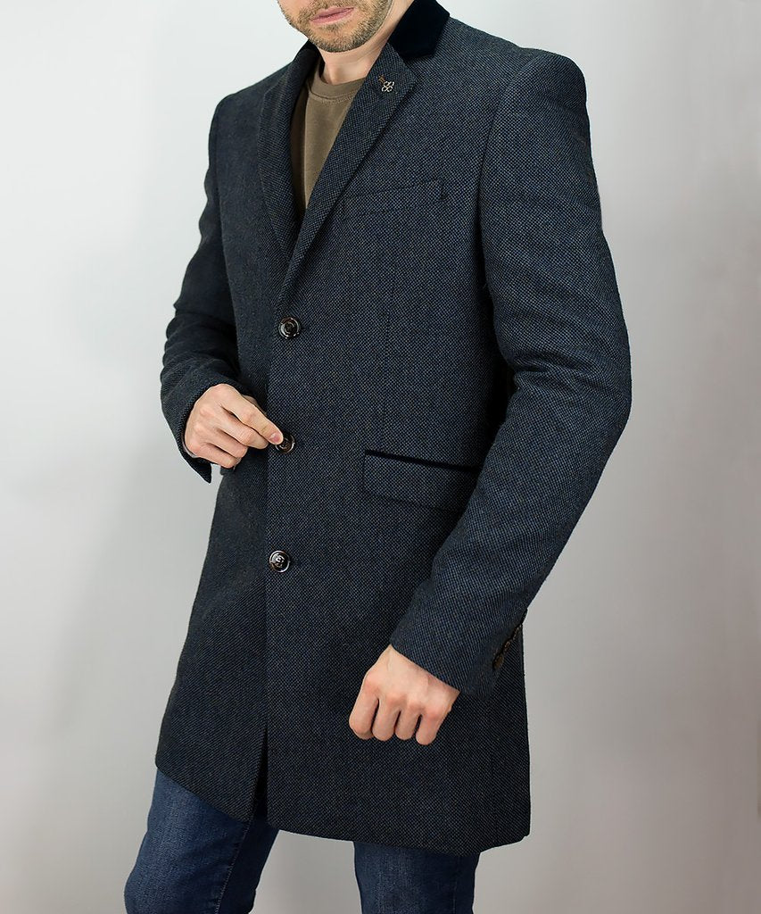 Cavani Kingston Navy Overcoat