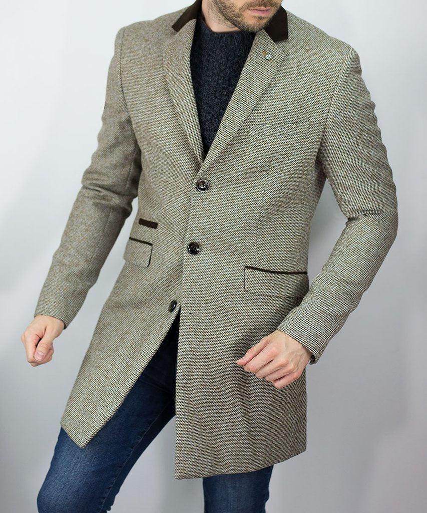 Cavani Lauren Tan Overcoat